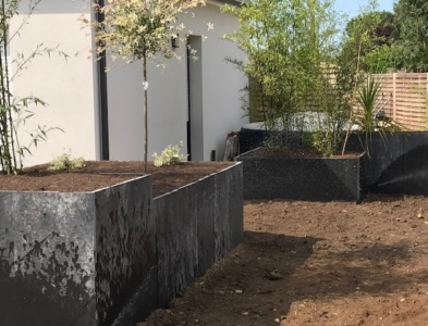 Bacs de plantation en pailis ardoise