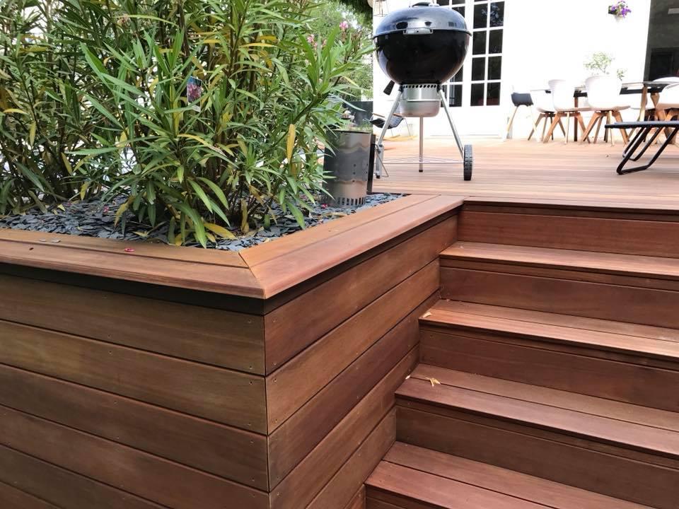 Terrasse en bois exotique bangkirai