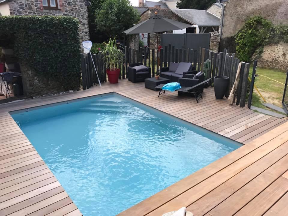 Terrasse de pisicne en bois ipé